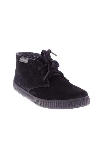victoria boots garcon de couleur noir