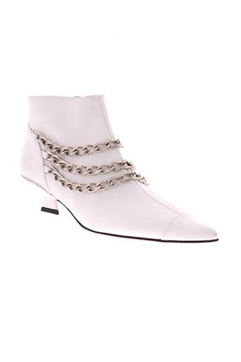 free et lance boots femme de couleur blanc