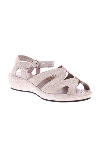 accessoire détente chaussures femme de couleur gris