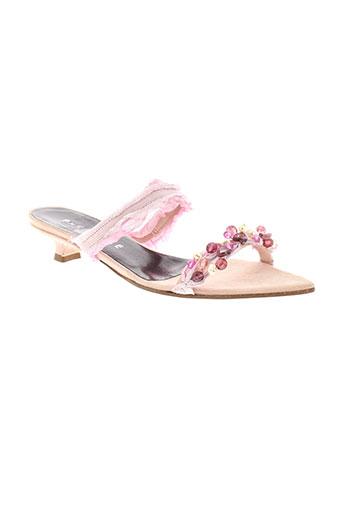 parallele chaussures femme de couleur rose