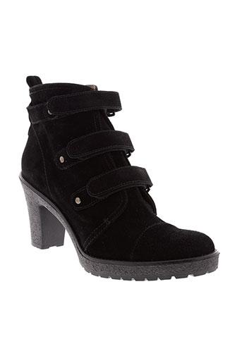 accessoire et detente boots femme de couleur noir