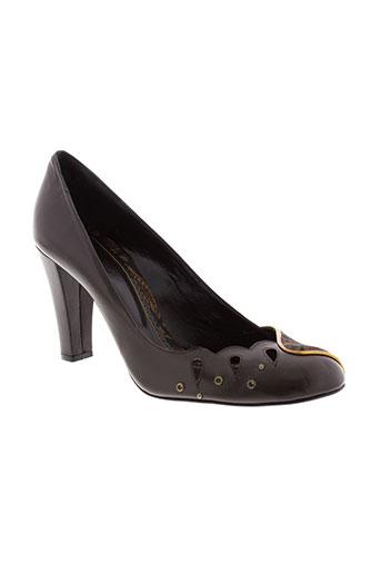 maloles escarpins femme de couleur marron