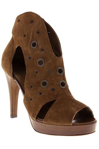 vero cuio chaussures femme de couleur marron