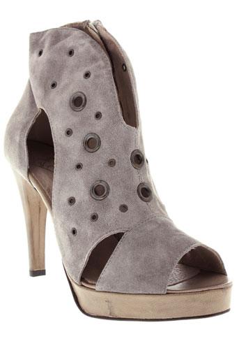 vero et cuio sandales et nu et pieds femme de couleur gris