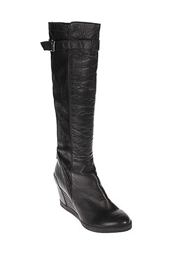 khrio bottes femme de couleur noir