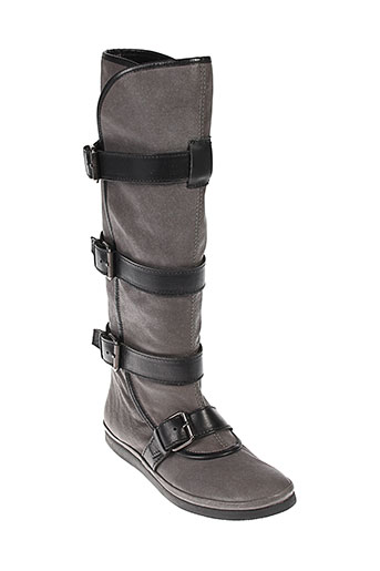 boot shop chaussures femme de couleur gris