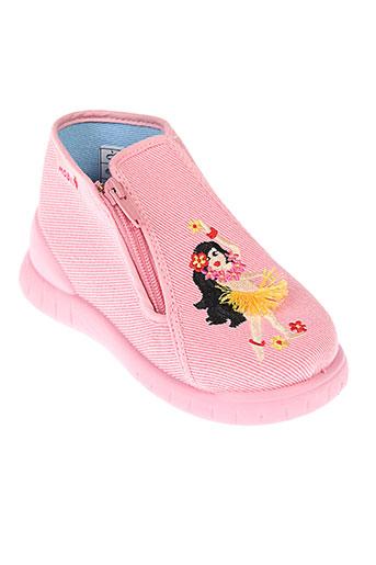 mod et 8 pantoufle fille de couleur rose