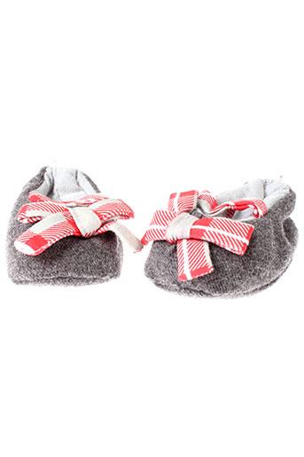berlingot chaussons fille de couleur gris
