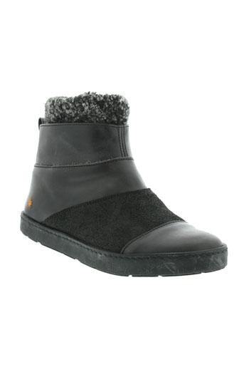 art boots femme de couleur noir