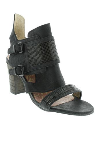 dkode sandales et nu et pieds femme de couleur noir