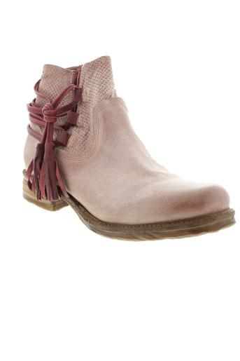 a et s et 98 boots femme de couleur rose