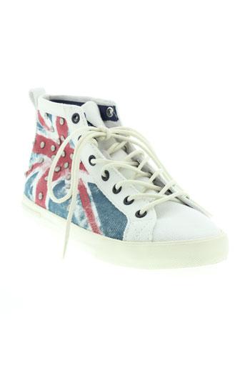 pepe jeans chaussures femme de couleur blanc