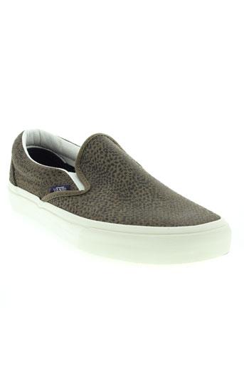 vans chaussures garçon de couleur marron