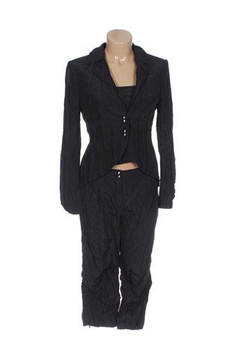 vera et mont pantalon et veste femme de couleur noir