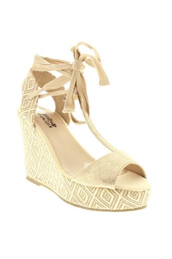 molly et bracken sandales et nu et pieds femme de couleur beige