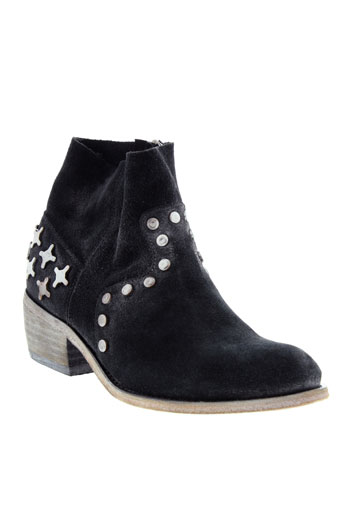 coco et et et abricot boots femme de couleur noir