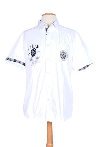 tom tailor chemises homme de couleur blanc