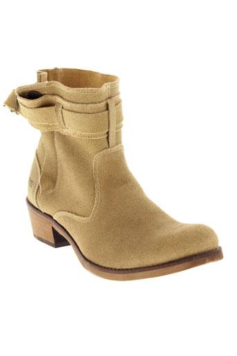 chipie boots femme de couleur beige
