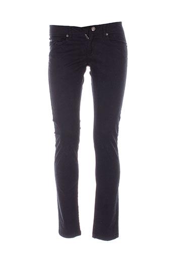 sisley pantalons femme de couleur noir