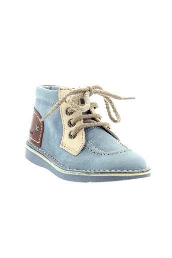 kickers boots enfant de couleur bleu