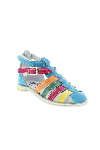 bellamy sandales et nu et pieds fille de couleur bleu