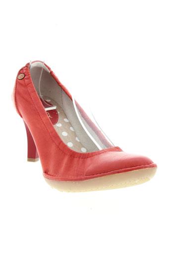 buggy escarpins femme de couleur rouge