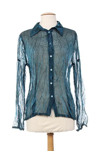 equation chemises femme de couleur bleu