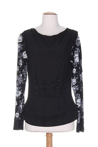 griffonnage chemises femme de couleur noir