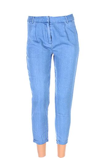 vila pantalons et decontractes femme de couleur bleu