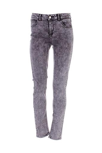 vila jeans femme de couleur gris