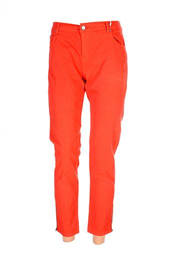 biscote pantalons femme de couleur orange