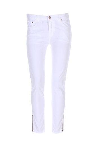 biscote pantalons et decontractes femme de couleur blanc