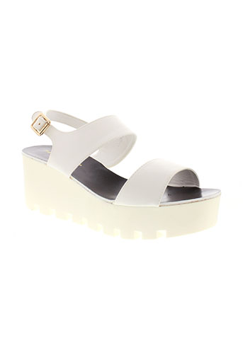 francesco et milano sandales et nu et pieds femme de couleur blanc