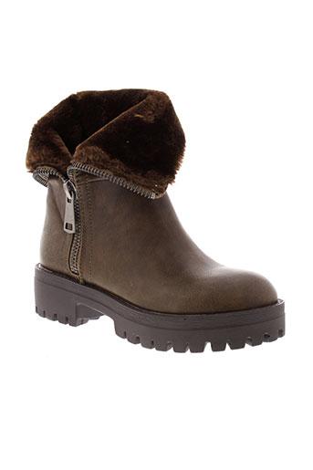 francesco et milano boots femme de couleur marron