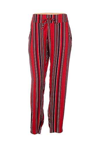 save the queen pantalons femme de couleur rouge