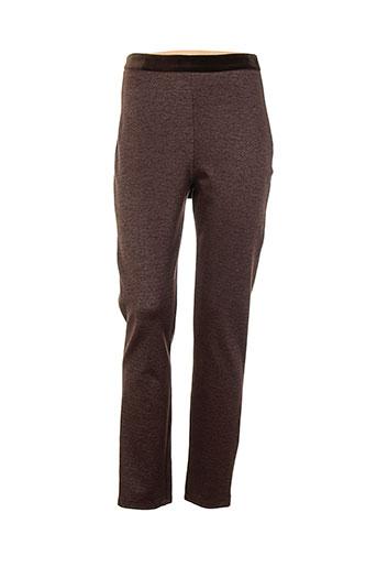 save the queen pantalons femme de couleur marron
