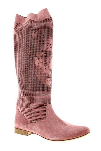 now bottes femme de couleur rose
