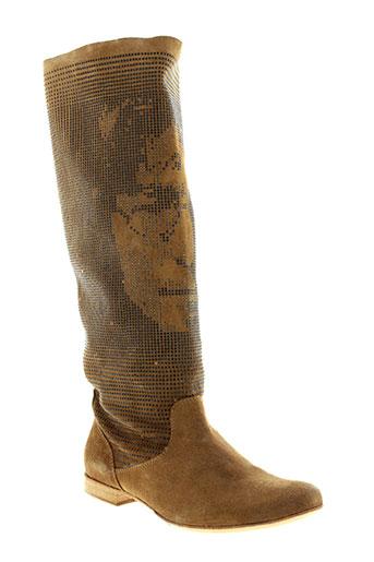 now chaussures femme de couleur marron