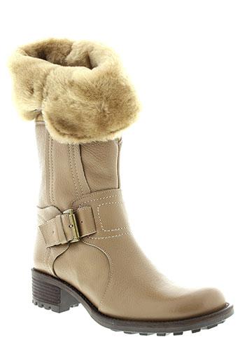 mally bottes femme de couleur beige