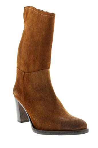 minka et design bottines femme de couleur marron