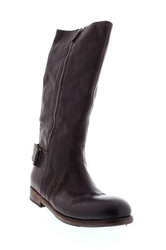 oxs bottes femme de couleur marron