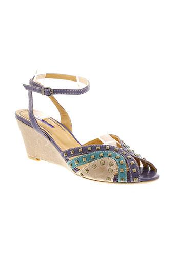 atelier et voisin sandales et nu et pieds femme de couleur bleu