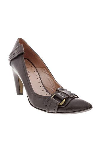 lat fem chaussures femme de couleur marron