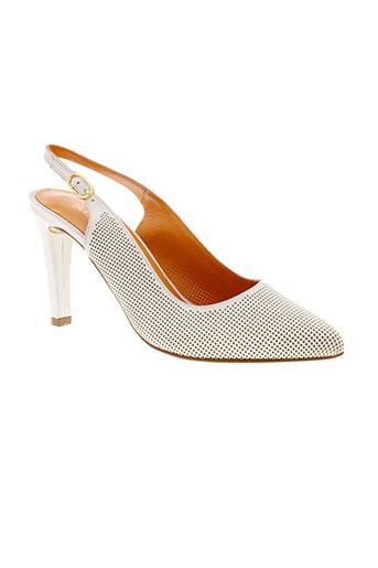 basta cosi chaussures femme de couleur blanc