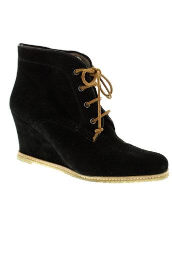 minka et design boots femme de couleur noir