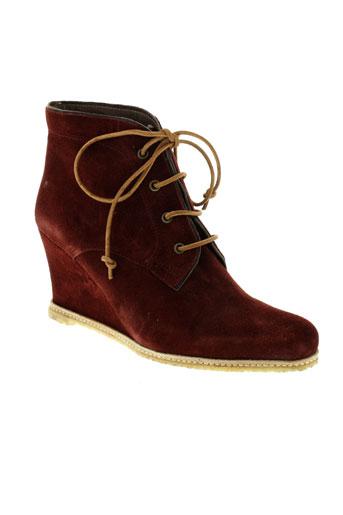 minka et design boots femme de couleur rouge