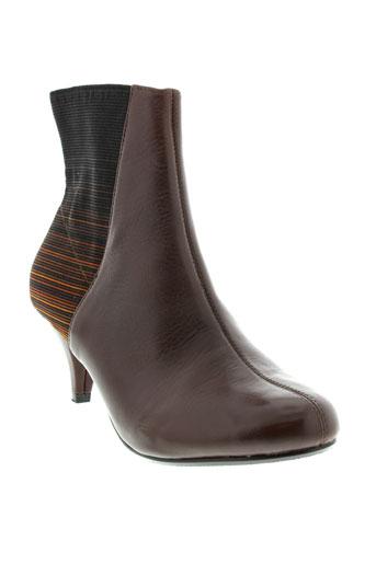 united et nude boots femme de couleur marron