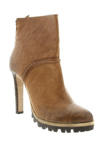 vic et matie boots femme de couleur marron