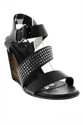 o.x.s chaussures femme de couleur noir