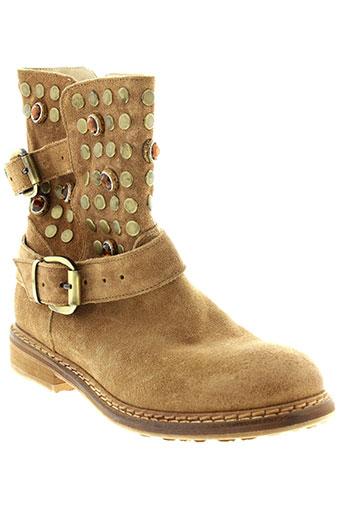 now boots femme de couleur beige